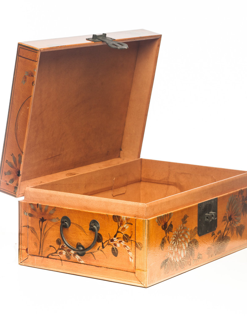 "Lawrence & Scott Natural Thrive Leather Box with Full Hardware (16.5"")"