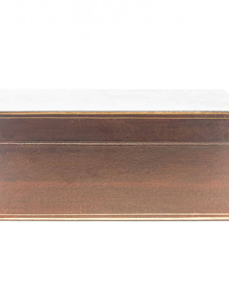 "Lawrence & Scott Mahogany Regalia Leather Box (16.5"")"