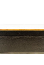 "Lawrence & Scott Black Regalia Leather Box (16.5"")"
