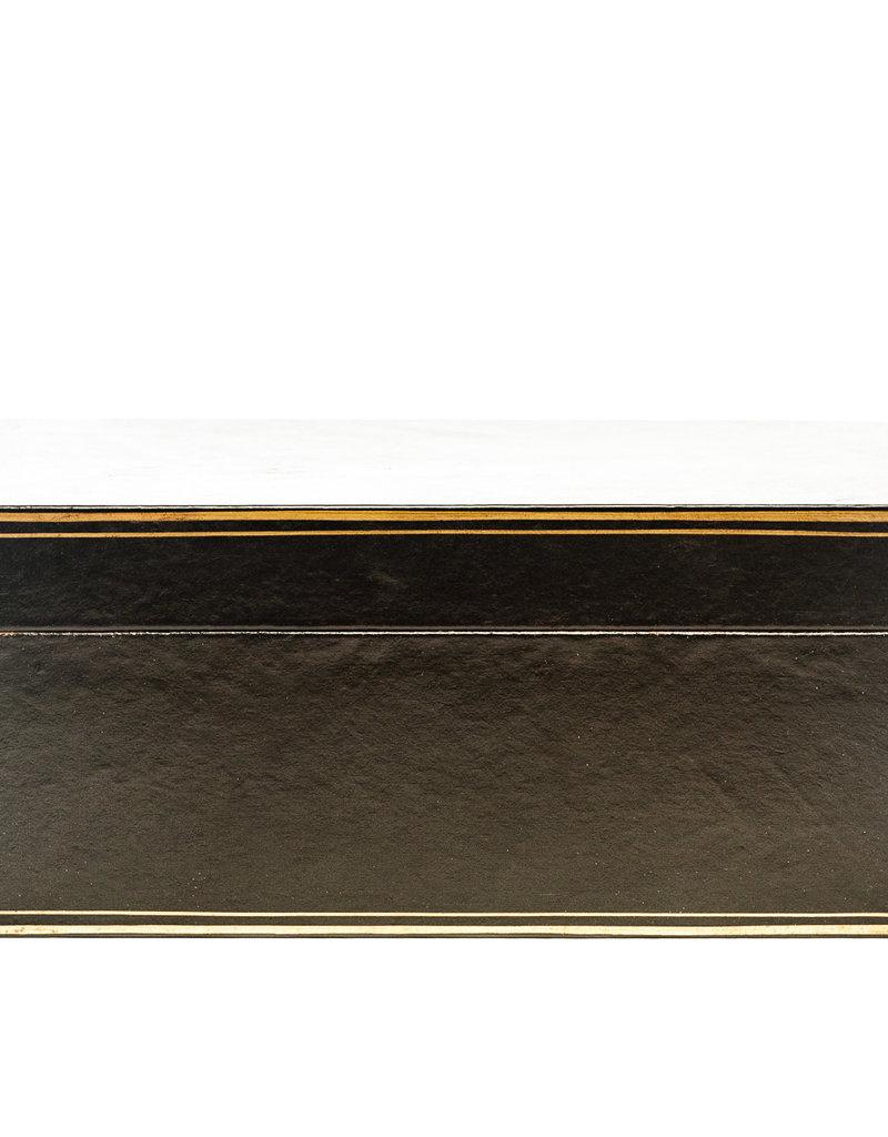 "Lawrence & Scott Black Regalia Leather Box (16.5"")"