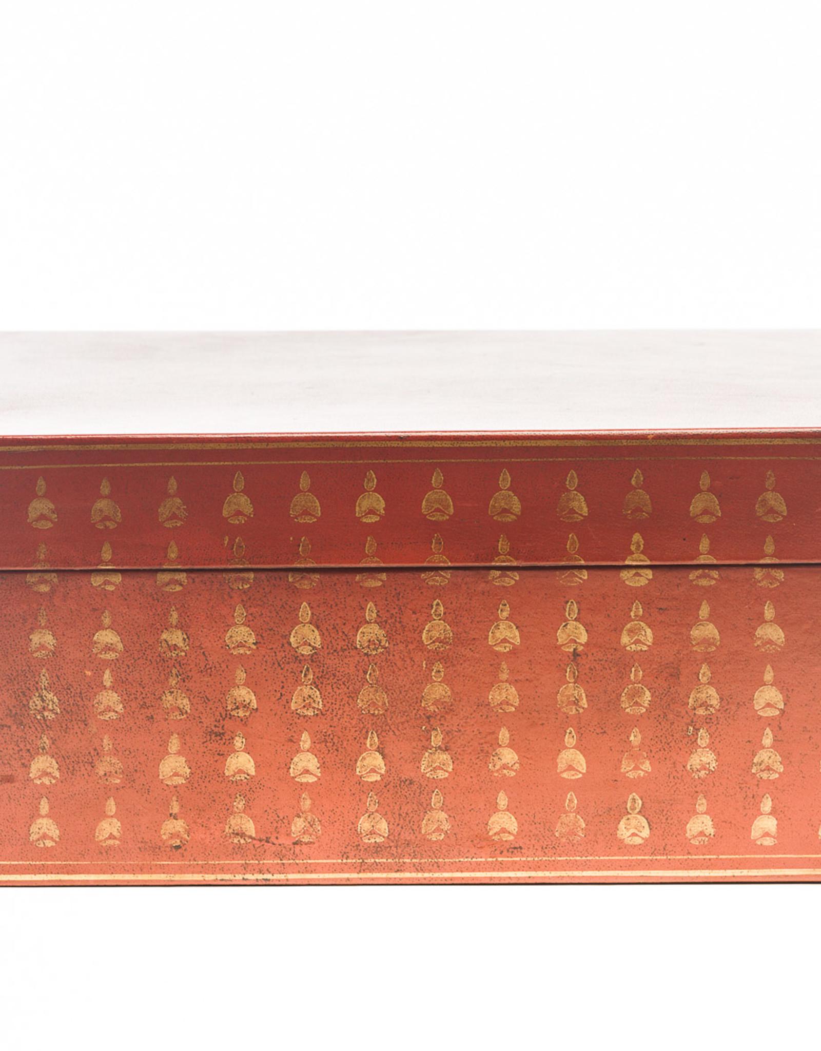 "Lawrence & Scott Mandarin Red Bells Leather Box (16.5"")"