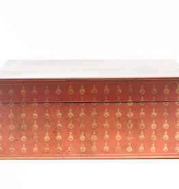 "Lawrence & Scott Mandarin Red Bells Leather Box (16.5"")"