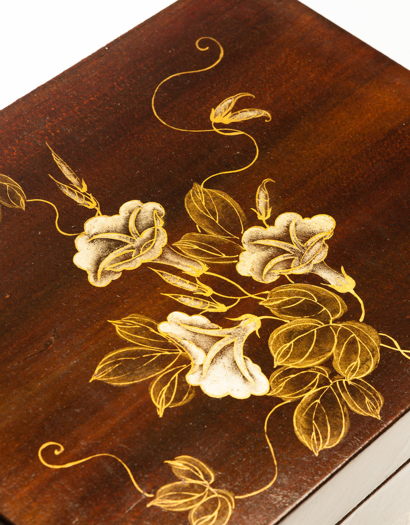 "Lawrence & Scott Mahogany Valentine Leather Box (16.5"")"