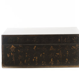 "Lawrence & Scott Black Inscription Leather Box (16"")"