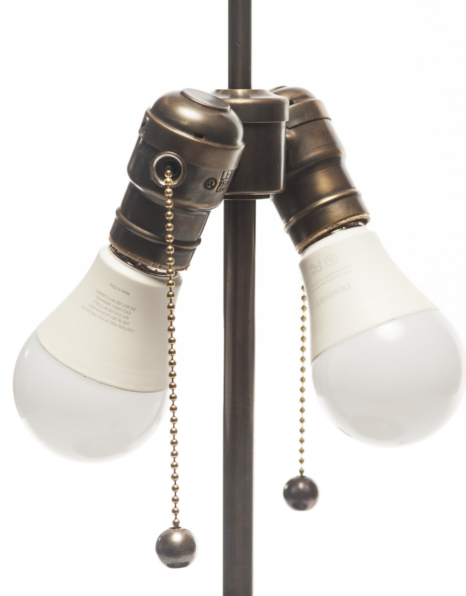 Lawrence & Scott Lillian Table Lamp in Oyster Gray with Rosewood Cap