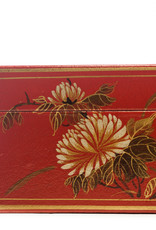 "Lawrence & Scott Mandarin Red Thrive Leather Box With Full Hardware (17"")"