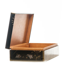 "Lawrence & Scott Black Thrive Leather Box (17"")"