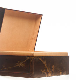 "Lawrence & Scott Mahogany Meridian Leather Box ( 16.5"")"