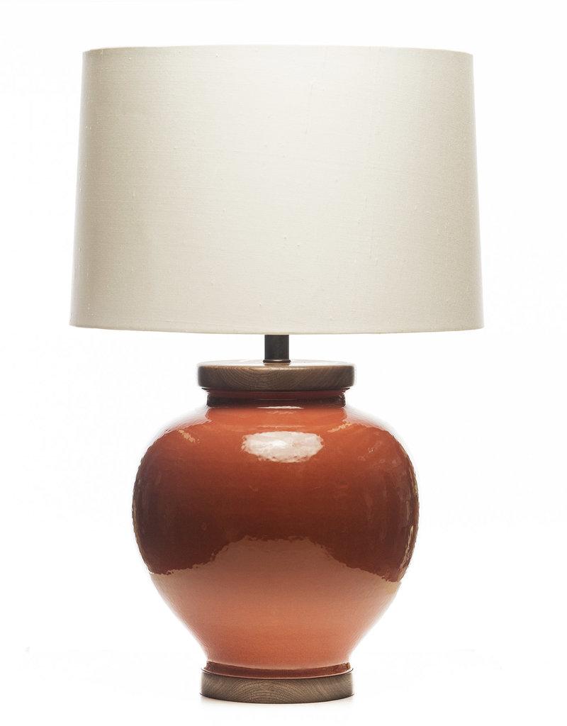 Lawrence & Scott Luca Porcelain Lamp in Living Coral