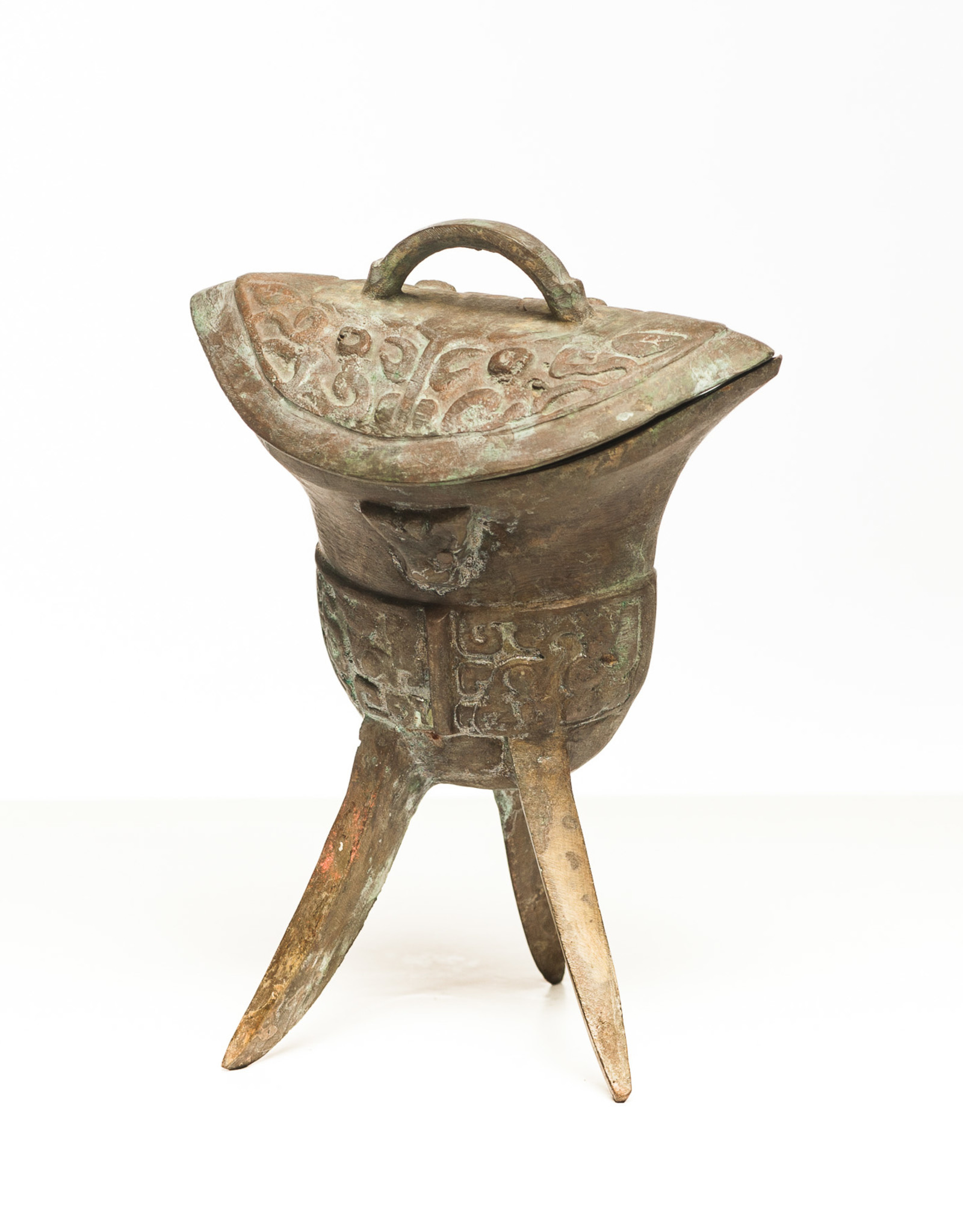 Lawrence & Scott Patinated Wine Vessel with Lid