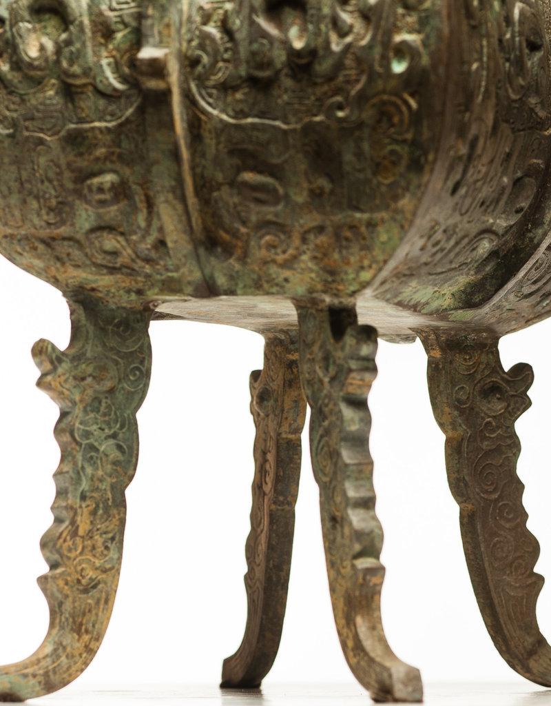 Lawrence & Scott Massive Verdigris Bronze Incense Burner