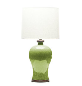 Lawrence & Scott Dashiell Table Lamp in Celadon Crackle (Walnut)