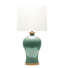 Lawrence & Scott Dashiell Table Lamp in Aquamarine Crackle (Oak)