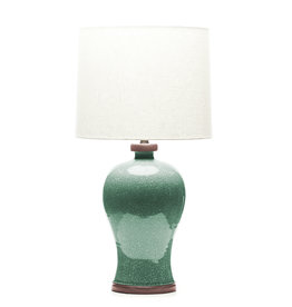 Lawrence & Scott Dashiell Table Lamp in Aquamarine Crackle (Sapele)