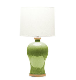Lawrence & Scott Dashiell Table Lamp in Celadon Crackle (Oak)