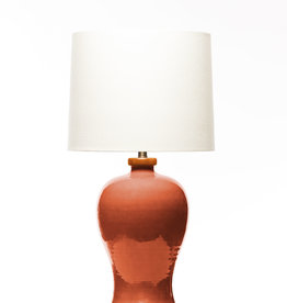 Lawrence & Scott Dashiell Table Lamp in Living Coral (Sapele)