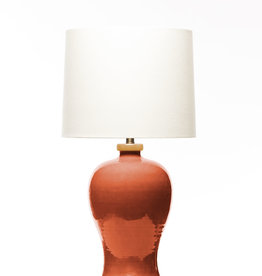 Lawrence & Scott Dashiell Table Lamp in Living Coral (Oak)