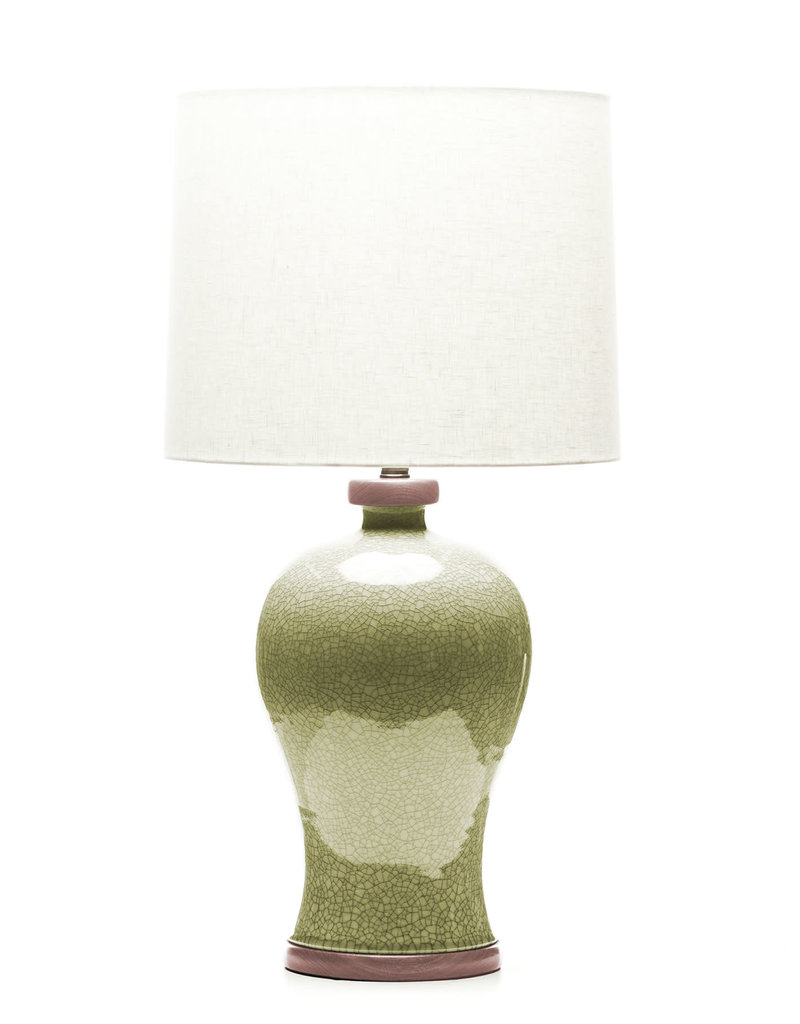 Lawrence & Scott Dashiell Table Lamp in Oyster Crackle (Sapele)