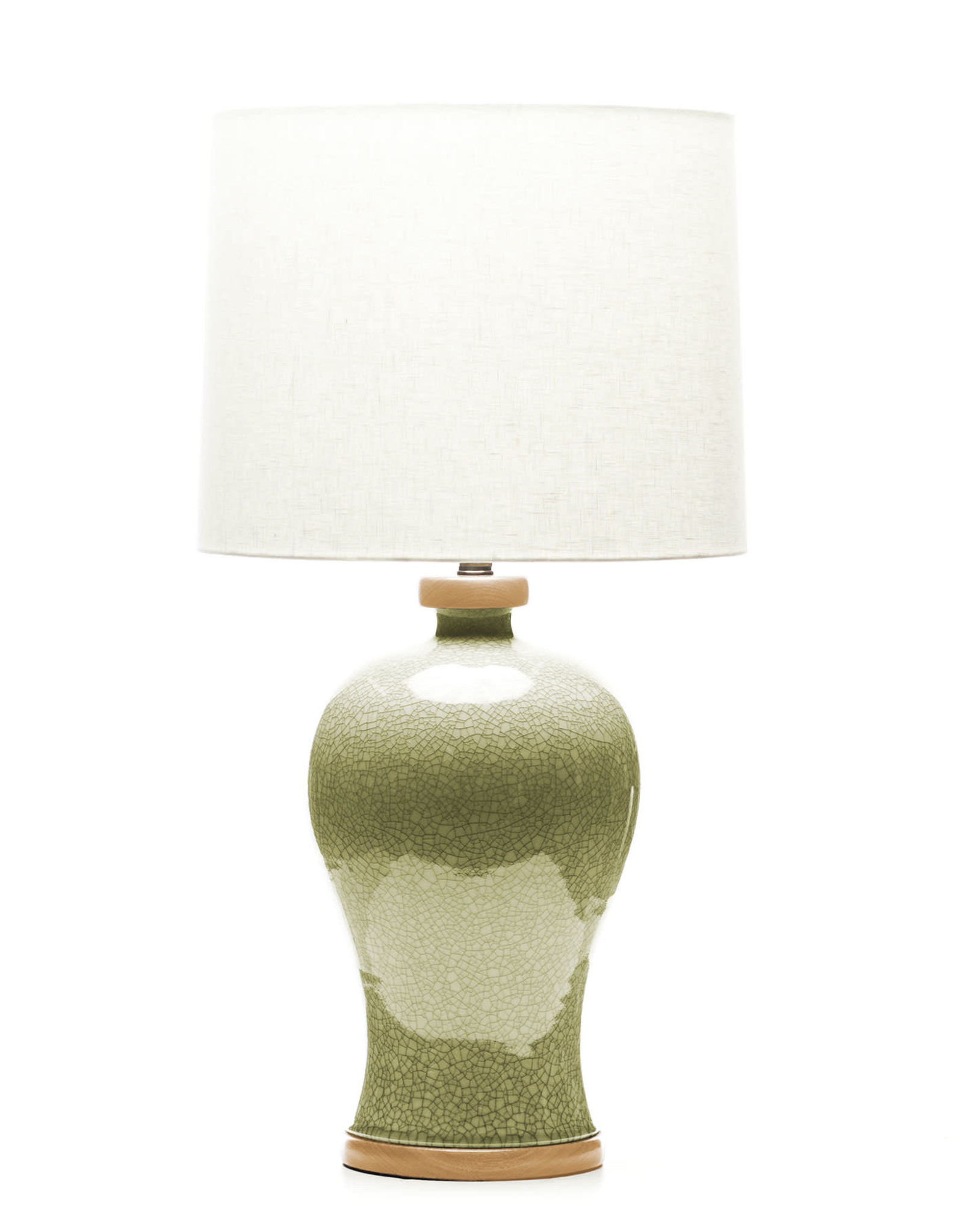 Lawrence & Scott Dashiell Table Lamp in Oyster Crackle (Oak)