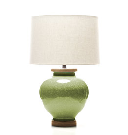 Lawrence & Scott Luca Porcelain Lamp in Celadon Crackle (Oak)