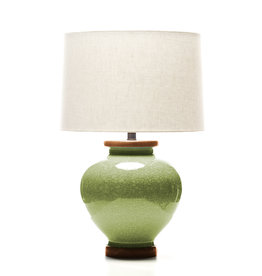 Lawrence & Scott Luca Porcelain Lamp in Celadon Crackle (Sapele)