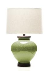 Lawrence & Scott Luca Porcelain Lamp in Celadon Crackle (Walnut)