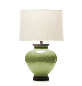 Lawrence & Scott Luca Porcelain Lamp in Celadon Crackle (Walnut)