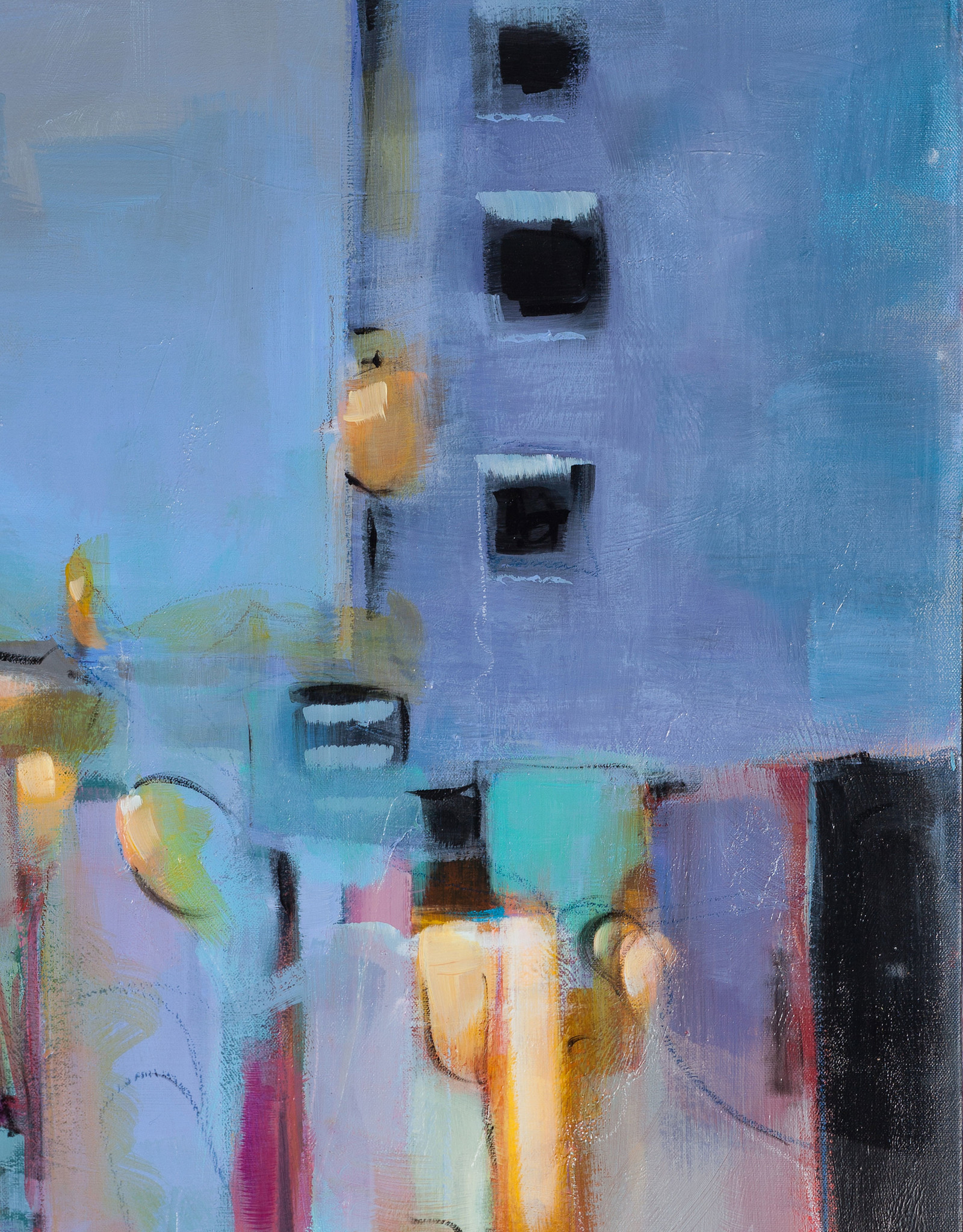 Amber Favre Art City View Abstract by Amber Favre