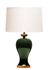 Lawrence & Scott Anita Porcelain Table Lamp in Racing Green
