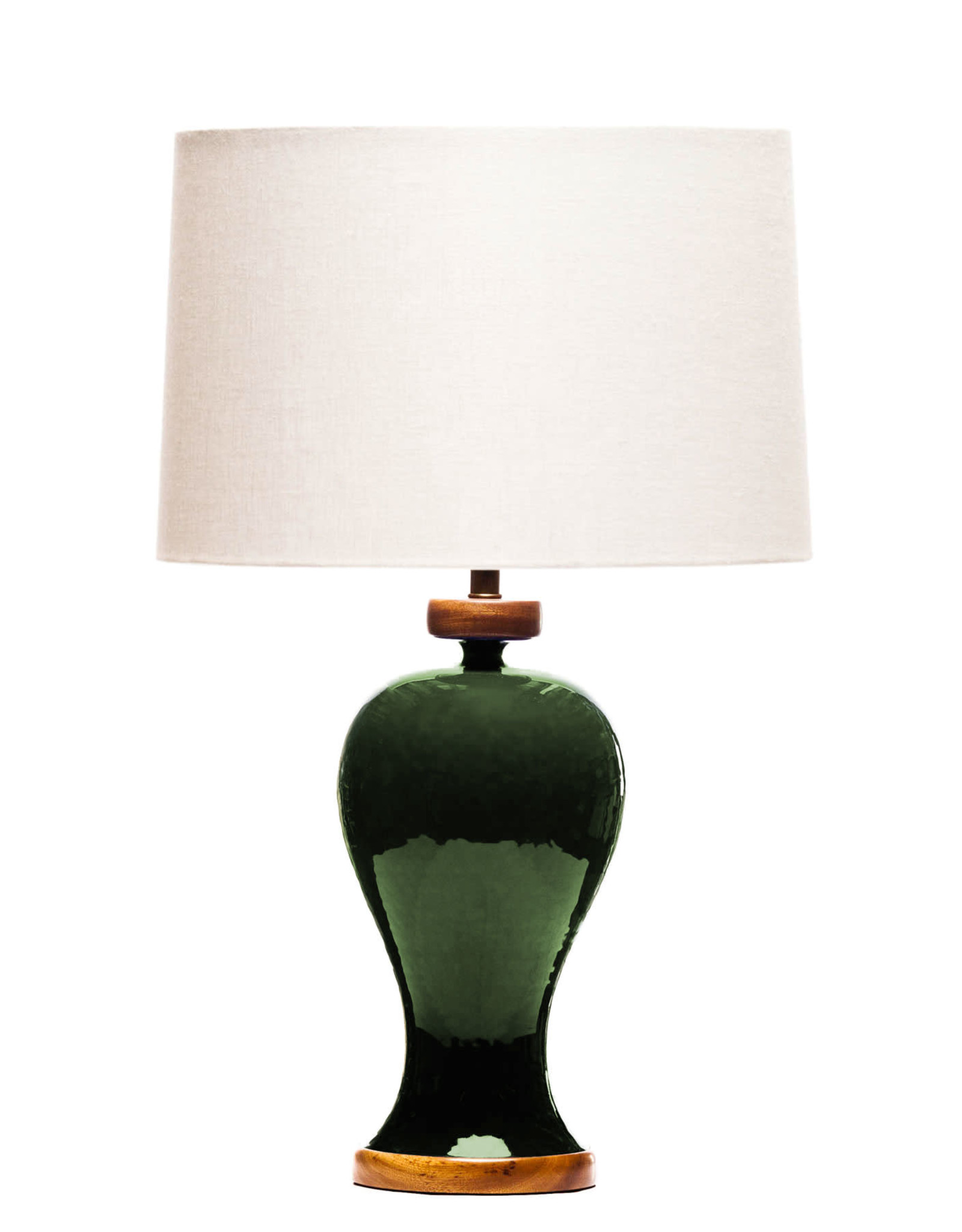 Lawrence & Scott Anita Porcelain Table Lamp (Racing Green)
