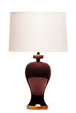 Lawrence & Scott Anita Porcelain Table Lamp in Pinot Red