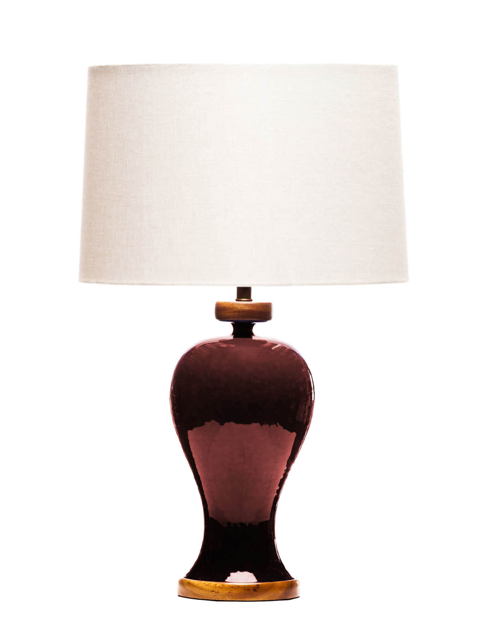 Lawrence & Scott Anita Porcelain Table Lamp (Pinot Red)