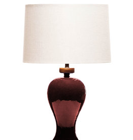 Lawrence & Scott Anita Porcelain Table Lamp (Pinot Red)