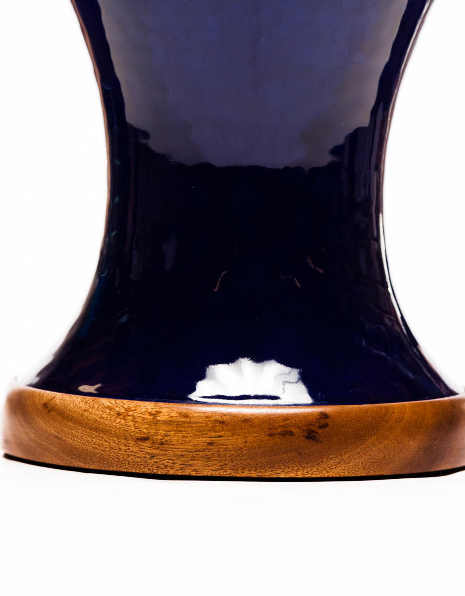 Lawrence & Scott Anita Porcelain Table Lamp in Indigo Blue