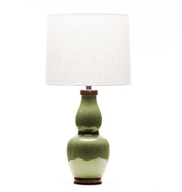 Lawrence & Scott Scarlett Table Lamp in Celadon Crackle (Walnut)