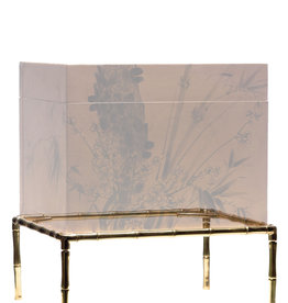 Lawrence & Scott Carved Brass Bamboo Stand for Leather Boxes (L-05 series)