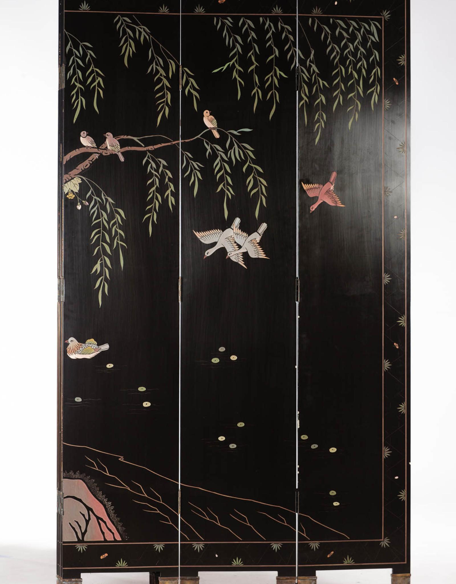 Lawrence & Scott SOLD Phoenix Double-Sided Coromandel  Screen 16'' x 84'' x 6 panels
