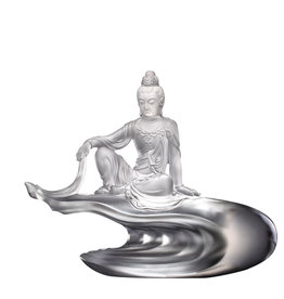 "LIULI Crystal Art Crystal Buddha ""Heart of Guanyin"" (Limited Edition)"