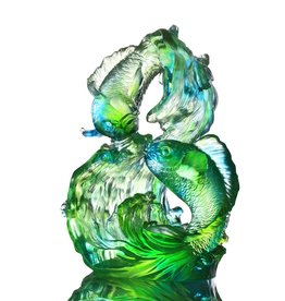 LIULI Crystal Art Crystal Koi Infinity (Limited Edition)