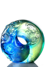 LIULI Crystal Art Crystal Abstract Dragon & Taichi Statue (Limited Edition)