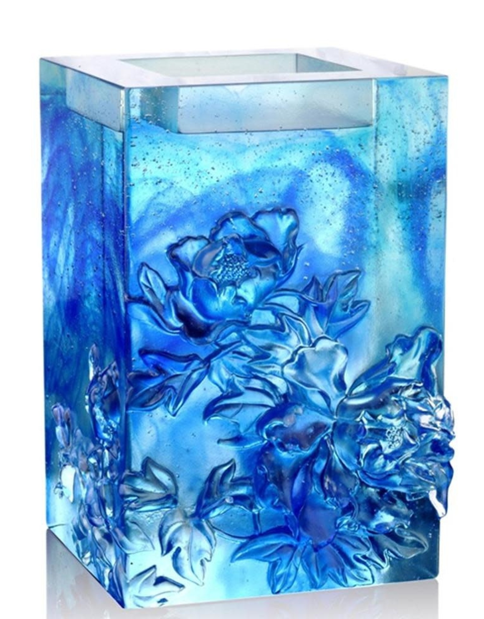 LIULI Crystal Art Crystal Candle Holder (Sky Blue)