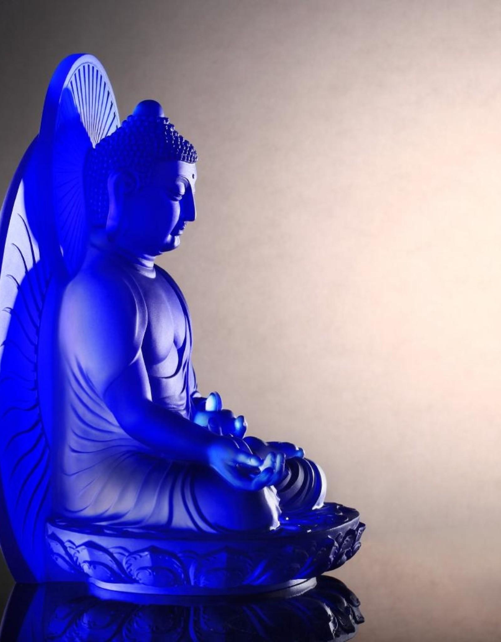 LIULI Crystal Art Crystal Medicine Buddha (Blue)
