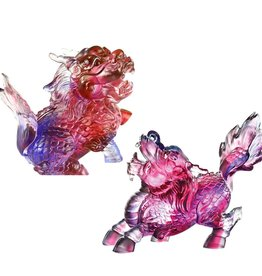 LIULI Crystal Art Crystal Qilin Feng Shui Guardians (Limited Edition) Set of 2