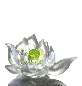 LIULI Crystal Art Crystal Lotus (Green)