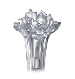 LIULI Crystal Art Crystal Peony Bloom (Powdered White) (Limited Edition)