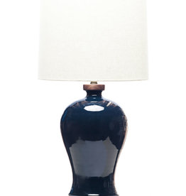 Lawrence & Scott Dashiell Table Lamp in Steel Blue Crackle (Walnut)