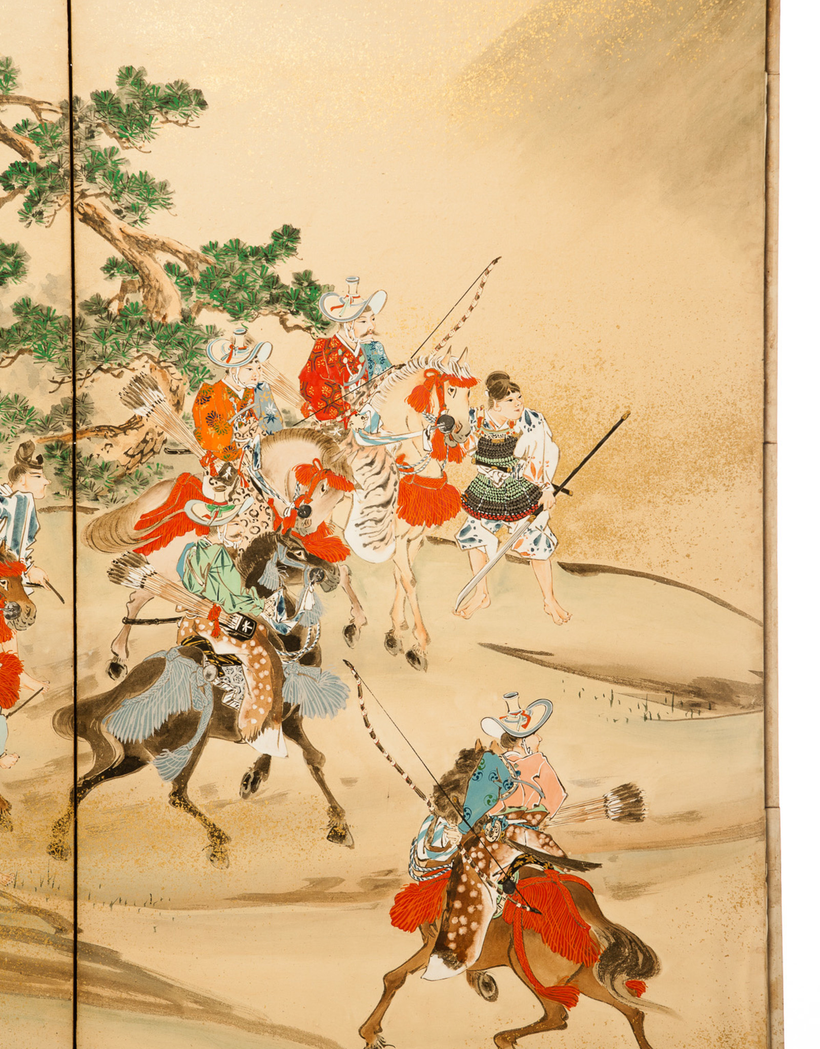 "Lawrence & Scott ""Samurai Hunting"" Scene 6-Panel Screen"