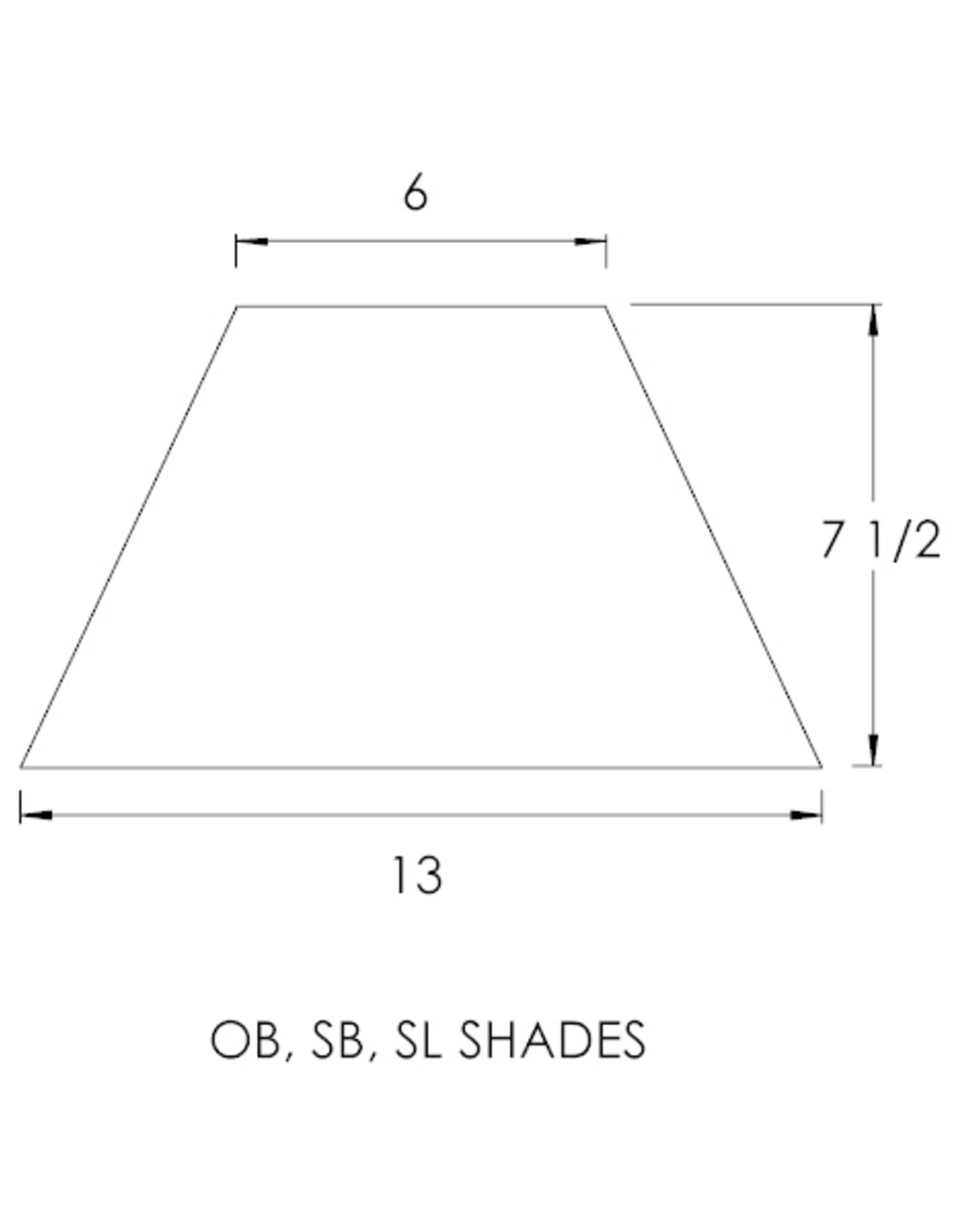 Casella Black Replacement OB Shade - Spider