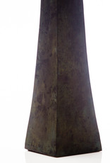 Lawrence & Scott Somand Torchiere Verdigris Bronze Table Lamp