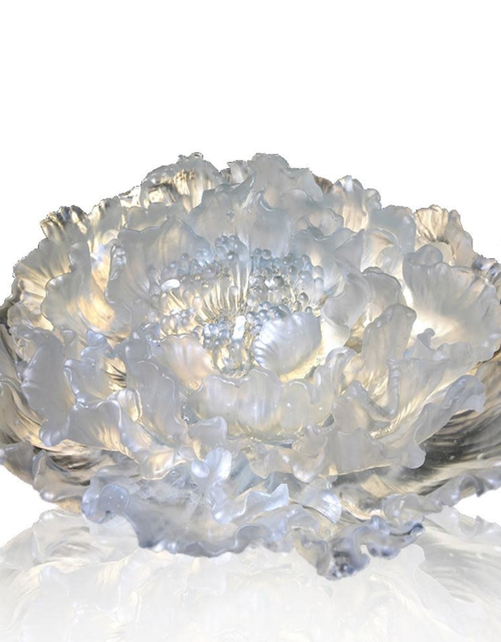 "LIULI Crystal Art Crystal Peony ""The Proof of Awareness"" (Collector's Edition) Limited Edition"